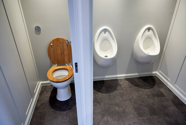 Posh Portaloo - gents urinals and toilet - from ohelloo