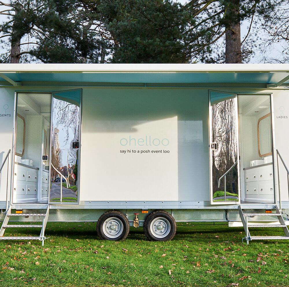 Portable Toilet Hire for Parties - Ohelloo Luxury Event Toilets - UK