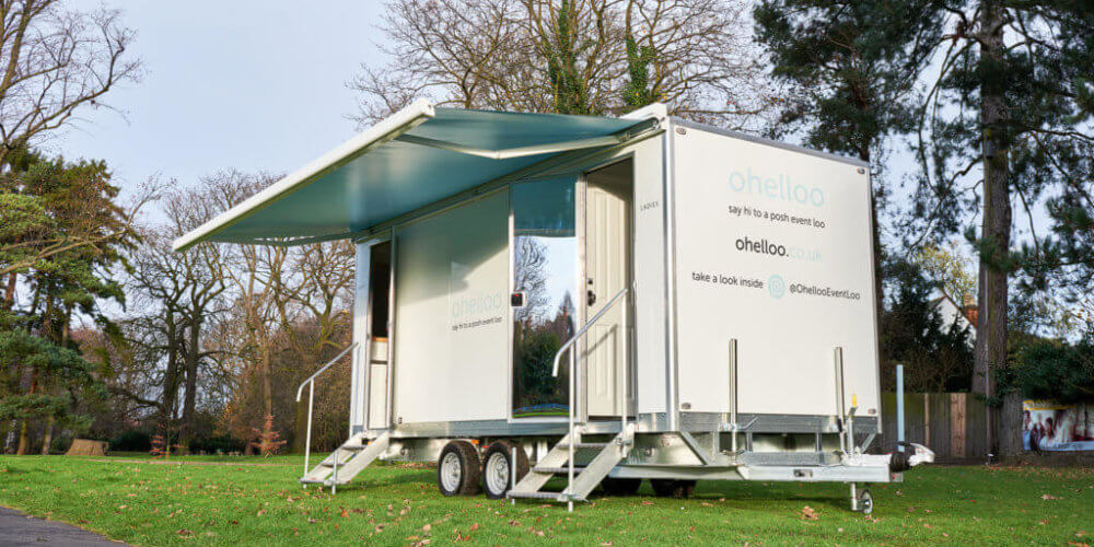 Event Portable Loo with Awning - Ohelloo Posh Event Toilets for Hire - UK